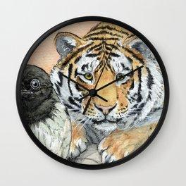 Crow and Tiger c031 Wall Clock