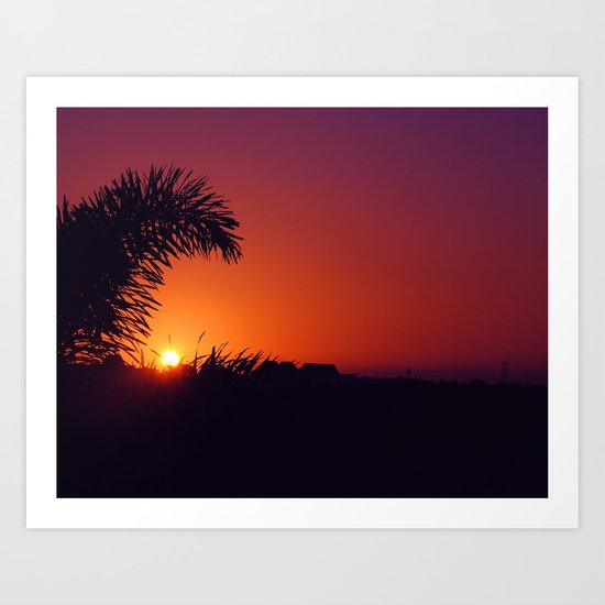 sunset in mexico Art Print