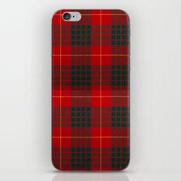 CAMERON CLAN SCOTTISH KILT TARTAN DESIGN iPhone Skin