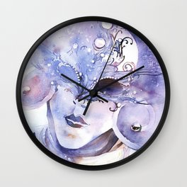 Masked person during Carnival in Venice, Italy Wall Clock