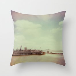 Mississippi River Throw Pillow