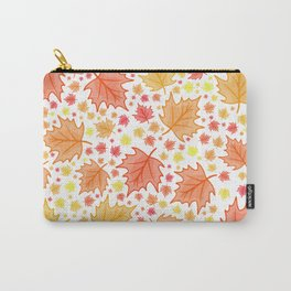 bright falling autumn leaves Carry-All Pouch