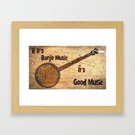 Banjo Music Framed Art Print