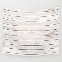 Rustic ivory white vintage wood Wall Tapestry