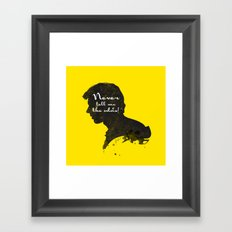The Odds – Han Solo Silhouette Quote Framed Art Print
