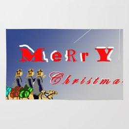 3 wise men gifting for christmas Rug