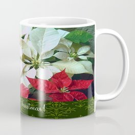 Mixed color Poinsettias 1 Merry Christmas S6F1 Coffee Mug