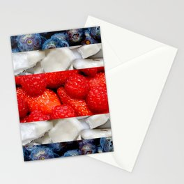 Healthy Costa Rica flag Stationery Cards