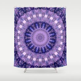 Deluxe lavender indulgence mandala Shower Curtain