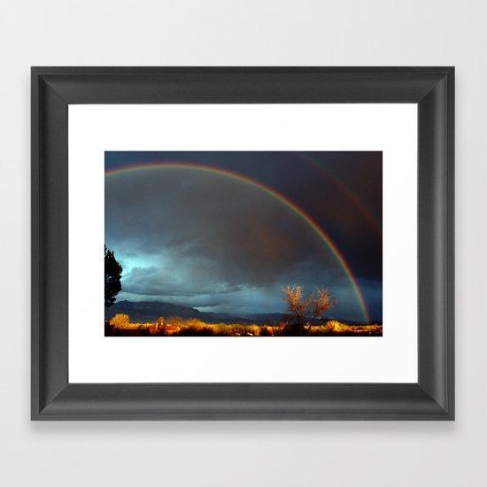 Double Rainbow Framed Art Print