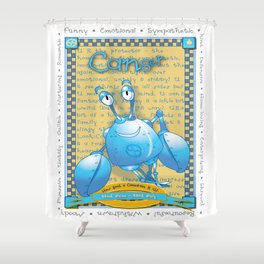 Astrological Zoodiac - Canser Shower Curtain