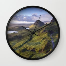 The Lie of the Land Wall Clock