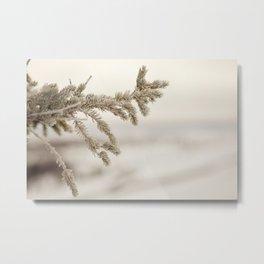 Icy Tamarack Metal Print