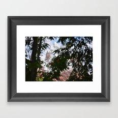 Mountain // Trees Framed Art Print