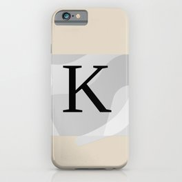 "LETTER ""K"" SINGLE INITIAL MONOGRAM iPhone Case"