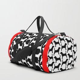 Black Beagle Silhouettes Pattern Duffle Bag