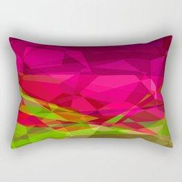 Rosas Moradas 1 Abstract Polygons 3 Rectangular Pillow