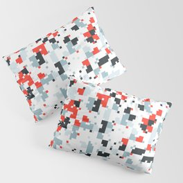 The accent color - Random pixel pattern in red white and blue Pillow Sham