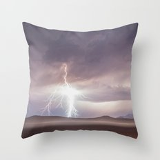 Lightning Strike, Black Rock Desert, NV Throw Pillow
