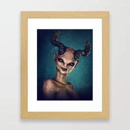 Female Demon Framed Art Print