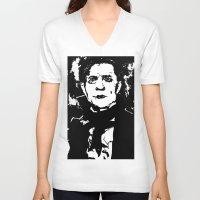 vampire V-neck T-shirts featuring Vampire by PCRK
