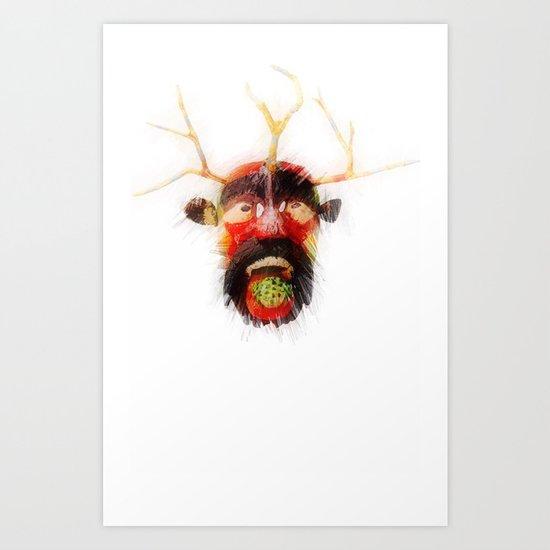 Maya Mask Art Print