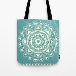 Boho Indian medallion Turquoise Tote Bag