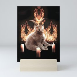 Demonic Demon Cat Mini Art Print