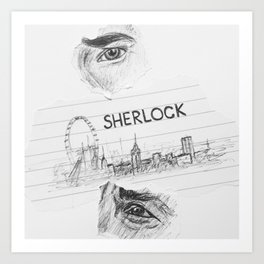 Sherlock: 'you look sad when you think he can't see you' Art Print