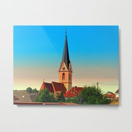 The village church of Allhaming I | architectural photography Metal Print