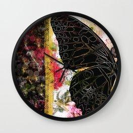 In Flight - Butterfly - Digital Art Wall Clock