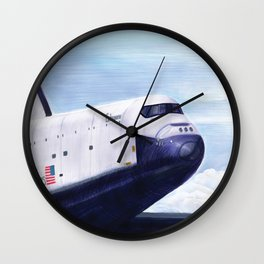 Enterprise Through The Clouds - Drawing Wall Clock