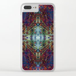 Andromeda geometry IV Clear iPhone Case