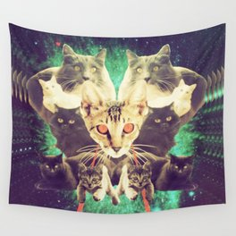 Galactic Cats Saga 1 Wall Tapestry