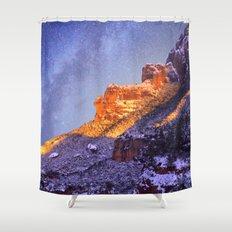 Montserrat Mountains Shower Curtain