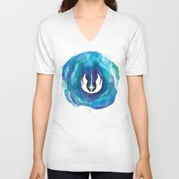 jedi V-neck T-shirts featuring Star Wars Jedi Watercolor by foreverwars