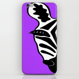 Zebra Purple iPhone Skin