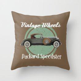 Vintage Wheels - Packard Speedster Throw Pillow
