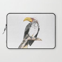 Southern Yellow-Billed Hornbill - Colored Pencil Laptop Sleeve