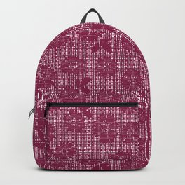 Floral Lace - Wine Backpack