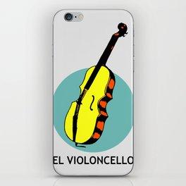 El Violoncello Mexican Loteria Card iPhone Skin