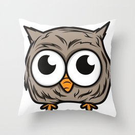 Furious bird. Killer eyes. Funny gift Throw Pillow