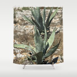 A capri plant Shower Curtain