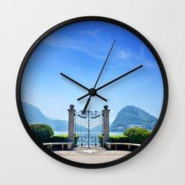 Lugano, Switzerland Wall Clock