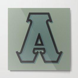 BOLD 'A' DROPCAP Metal Print