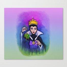 Snow White Evil Queen Watercolor Canvas Print