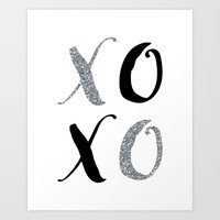 xoxo Art Prints featuring XOXO by Indulge My Heart