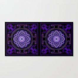 Mandala Hypurplectic-Stereogram Canvas Print