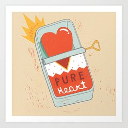 Canned Heart Art Print