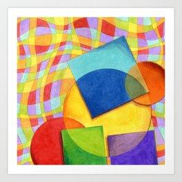 Candy Rainbow Circus Art Print